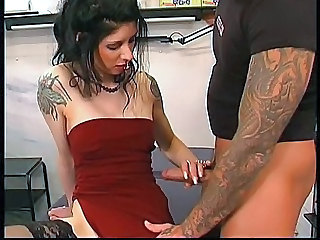 In The Tattoo Shop  - Fetish sex video -