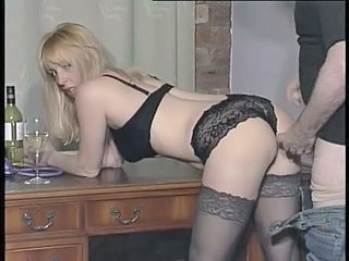 Blonde Doggystyle Lingerie
