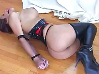 Struggling While Bound In Latex Sex Tubes