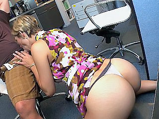 Ass Blowjob Office