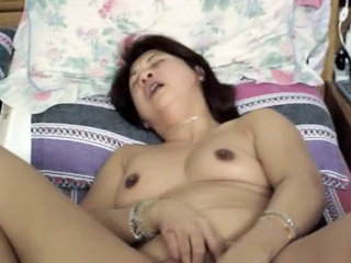 Asian Chinese Masturbating