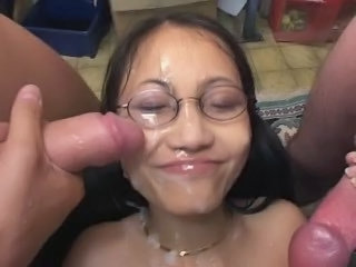 Asian Bukkake Cumshot