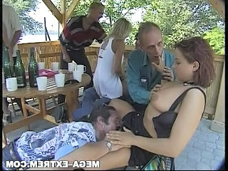 Swinger Sexparty private outdoor gang-bang