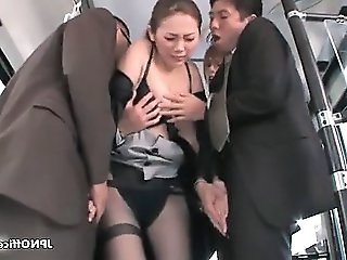 Asian Bus Gangbang