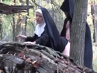 Nun Clothed Doggystyle