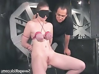 Nasty Brunette Catherine Is Sex Slave Part2