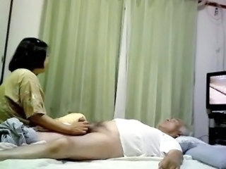Asian Daddy Handjob