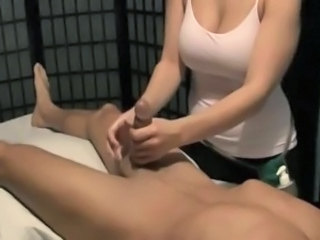 Big Tits Handjob Massage