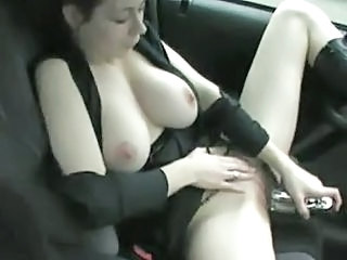 Big Tits Car Masturbating