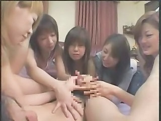 Asian Groupsex Handjob