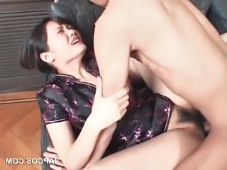 Asian Beauty Gets Hairy Twat Fucked Hard
