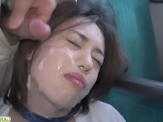 Small cock Asian Cumshot