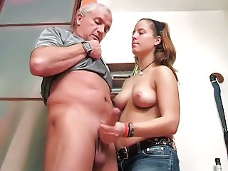 18 yo busty daughter plays with not her dad's massive cock