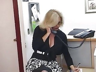 Big Tits Secretary Blonde