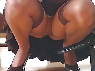 Upskirt Secretary Stockings
