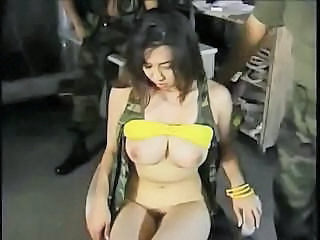 Army Asian Babe Big Tits Natural Pornstar