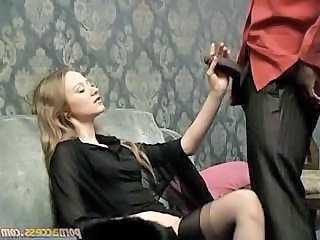 Black male gigolo tries to impress his mistress with his monstrous cock