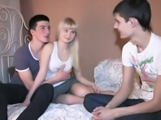 Blonde Teen Threesome