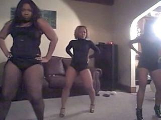 3 Hot Ebony Women dance very sexy