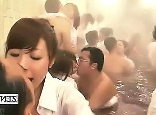 Subtitled Japanese pep talk followed by gargantuan orgy