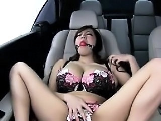 Asian Big Tits Car