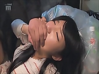 Japanese girl fucked in the garbage