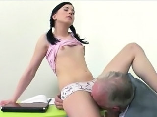 Brunette Daddy Licking