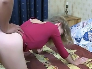 Horny Slut Teenager Bent Over And Fucked In The Ass