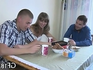 Russian Teen Cuckold