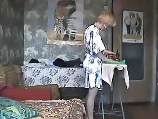 Mom fucked in iron