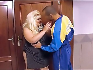 Fat blonde gets fucked