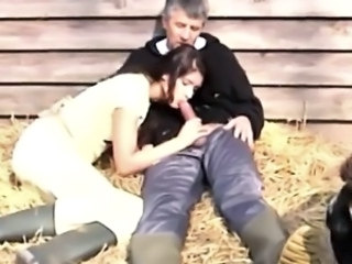Farm Blowjob Clothed