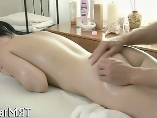 Lusty massage with toy playing