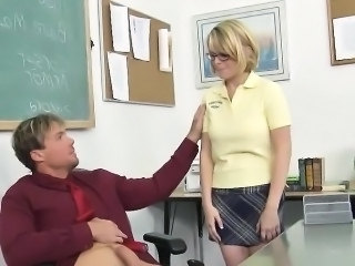 Blonde Glasses School