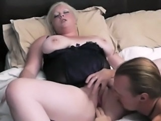 Fisting Blonde Chubby