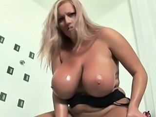 Oiled Big Tits Blonde