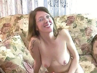Amateur Glasses Masturbating