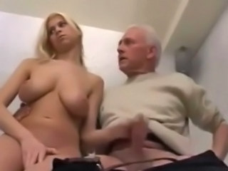 Daddy Amateur Amazing Big Tits Blonde Daughter Handjob Natural Old And Young Teen