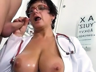 Mature Handjob Oiled
