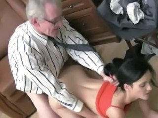 Horny Karina has made love By Her aged Teacher inside His House