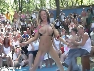 Silicone Tits Outdoor Amateur