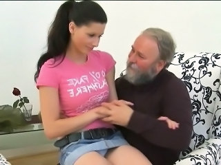 Daddy Old And Young Brunette