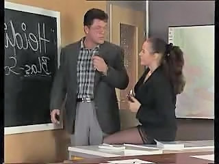 European German MILF School Stockings Teacher