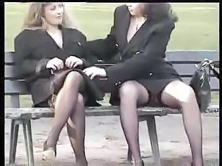 Upskirt MILF Outdoor