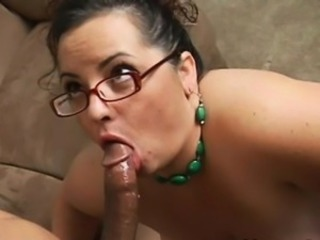 Brunette Blowjob Glasses