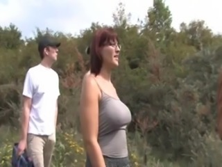Son fucks mom in nature free
