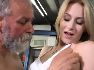 Daddy Blonde Cute Daughter Old And Young Teen