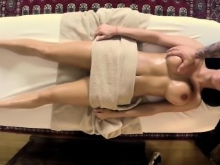 Oiled Massage Silicone Tits