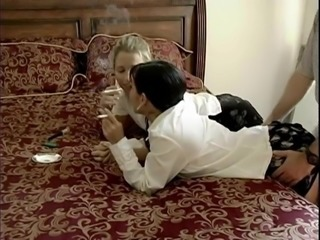 Amateur Clothed Fetish MILF Smoking Threesome