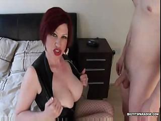 Trudi Stephens is a horny MILF who gets fucked hard on the bed